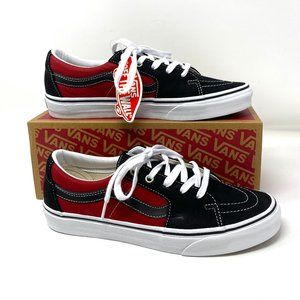 Vans Sk8 Low Leather Black Chili Pepper Sneakers m